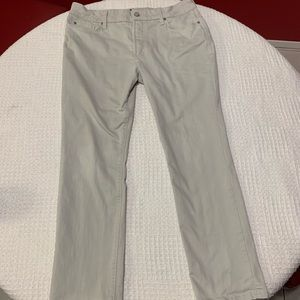 NYDJ size 14P Gray/white skinny jeans for women